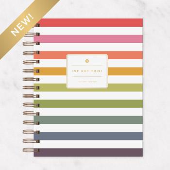 2021 IVF Planner Rainbow Stripe